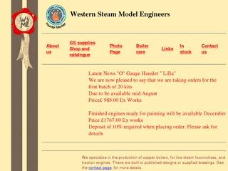 western-steam-model-engineers